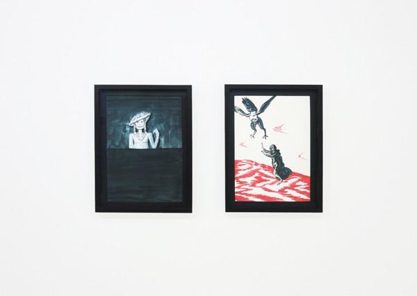 Aleksandra Waliszewska, Untitled, 2013-16, mixed media on carton, 25x35cm, Courtesy of the artist, CAN Christina Androulidaki gallery, Athens and LETO gallery, Warsaw