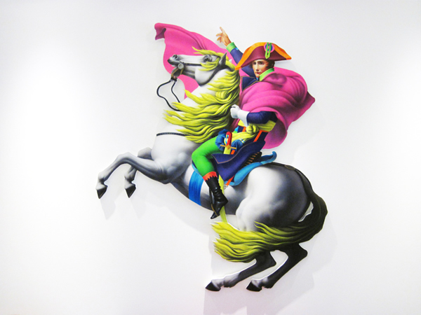 Pavlos Tsakonas / Napoleon Wannaparty, 2012, Acrylics on plywood, 120x100cm