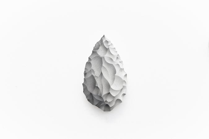 Pavlos Tsakonas / Axe, 2011, Acrylics on plywood, 14×8,5cm
