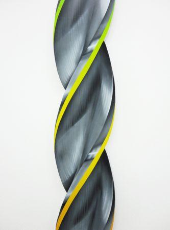 Pavlos Tsakonas, Drill Beat no2, 2017 Painting, acrylics on plywood, 134x14cm, detail
