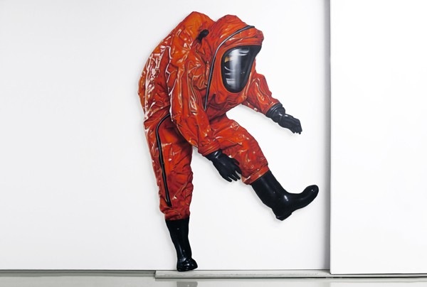Pavlos Tsakonas, Ministry of Health and Safety, 2008, Acrylics on canvas mounted on plywood, 121x190cm  Installation View