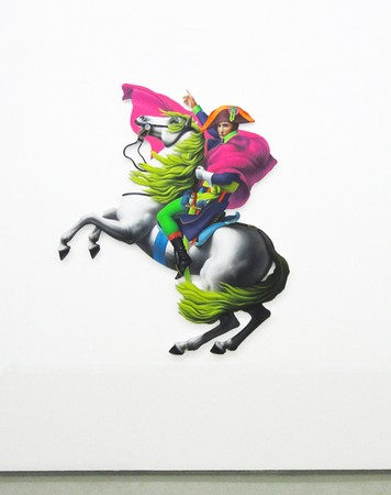 Pavlos Tsakonas, Napoleon Wannaparty, 2012, Acrylics on Plywood, 93x103cm Installation View