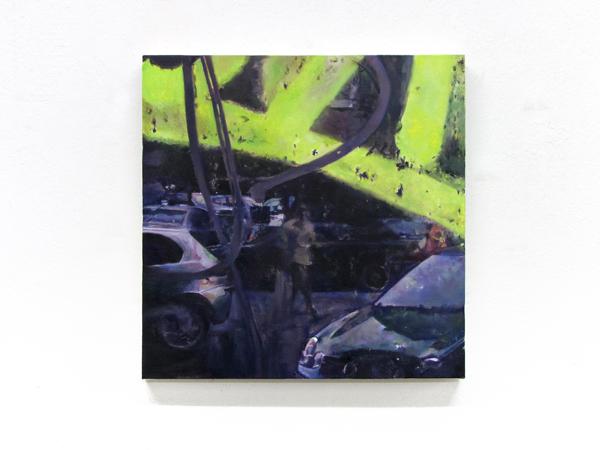 Sotiris Panousakis, Memorabilia #8, 2013, oil on canvas, 50x50cm