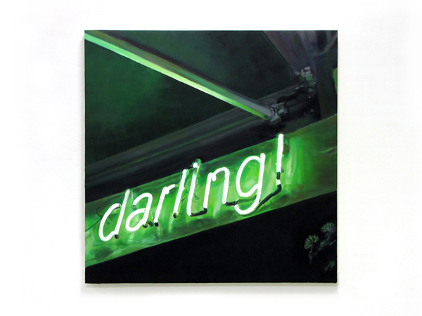 Sotiris Panousakis, darling!, 2009, oil on canvas, 90x90cm