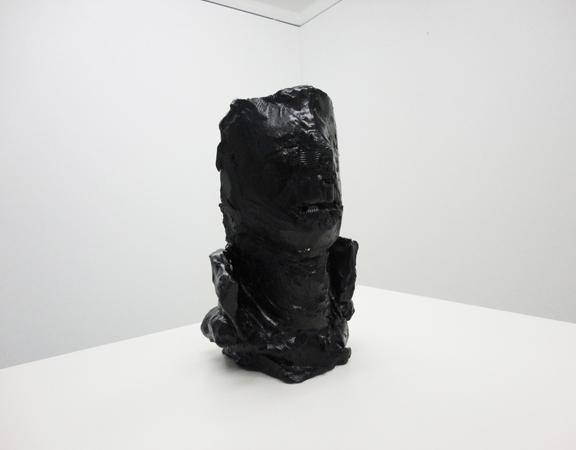 Stelios Karamanolis - Random Soldier II, 2012, ceramic, acrylic paint, 1/1, 15 x 17 x 26cm