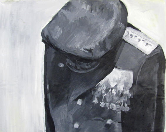 Stelios Karamanolis - Uniform, 2011, acrylic on canvas, 68x57cm