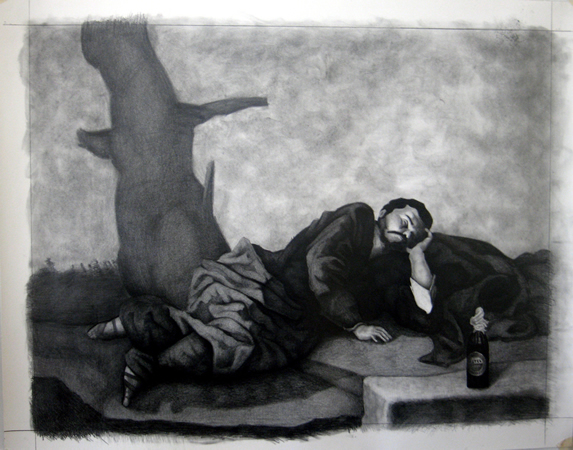 Nikos Kanarelis, a dream, 2019, 110x90cm