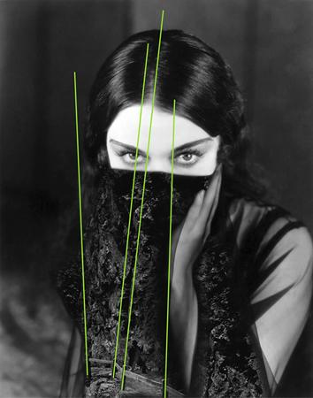 Versaweiss, No sleep on the deep (Dorothy Sebastian), 2014, xerography and acrylic spray on paper, 90x110cm