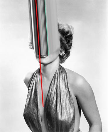 Versaweiss, W.A.N.M. (Marilyn Monroe), 2014, xerography and acrylic spray on paper, 90x110cm