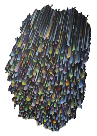 Pavlos Tsakonas, Untitled, 2013, Acrylics on plywwod, 96x64cm