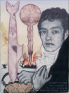 Emmanouil Bitsakis, Robert Fulton, 2014 acrylics on cardboard, 12,5x9,5cm