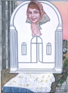 Emmanouil Bitsakis, Outdoor Madonna, 2018, Acrylics on canvas, 24x18cm, Courtesy of the artist and CAN Christina Androulidaki gallery, Athens