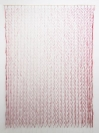 Nikos Alexiou, Red Curtain, paper, string, reed, 140x200cm