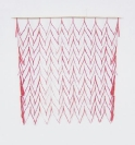Nikos Alexiou, Red Curtain, paper, string, 50x50cm