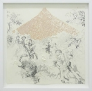 Nikos Papadopoulos, Untitled, 2013, graphite, color pencil and ink on paper, 40x40cm, Courtesy of AD gallery