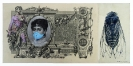 Dimitris Tataris, Untitled, 2014, Tempera Collage And Pencil On Bank note, 12x26cm, Courtesy of Kalfayan Galleries Athens-Thessaloniki