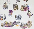 Iris Plaitakis, Untitled (Visits),2006, Mixed media on paper,29,7x21cm, detail 1