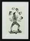Diamantis Sotiropoulos, Entertainment, ink on paper, 22cm x29cm