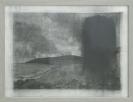 Nikos Kanarelis, black rising, pencil on paper, 43x33 cm