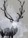 Giorgos Vaviloussakis, Proud Deer, 2013, Acrylics on hard paper, 30x40cm