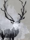 Giorgos Vaviloussakis, Proud Deer, 2013, Acrylics on hard paper, 30x40cm