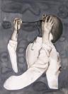Marianna Ignataki, Comparative Definition of the Underneath, 2014, watercolor, gouache, colored pencil on paper, 77x57cm