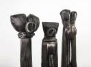 Marianna Ignataki, Totem, 2017, synthetic hair, fabric, thread, metal base, detail