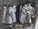 Marianna Ignataki, The Gathering, 2016, watercolor, pencil, colored pencil and pastel on paper, 41x54cm