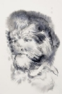 Marianna Ignataki, Hairman IX, 2016, watercolor and pencil on paper, 28x19cm