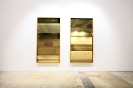 :mentalKLINIK, Sliders, 2011, Glass, micro-layered polyester films, anodized aluminium, 103x203cm each