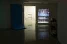 Natasa Efstathiadi, Royal Pool, slide projection and sculpture (plywood, wood), 100x203cm, installation shot
