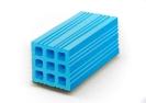 Pavlos Tsakonas, Blue Hollow Brick, 2016 Painting, acrylics on plywood, 23x20cm