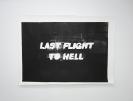 Stelios Karamanolis - Last Flight to Hell, 2011, Paper-stencil print, ed. 1/1,  152x112cm