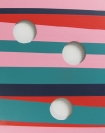 Tula Plumi, Untitled, Lines and circles series, 2012, spray paint on metal sheet, 174x46cm, detail
