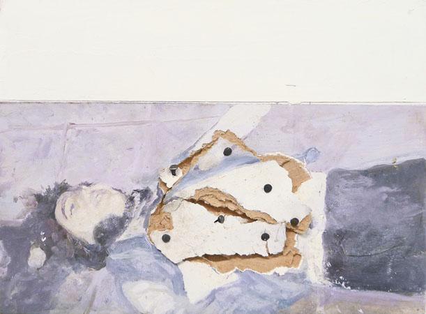 Vangelis Gokas, Seven, 2014, oil on wood, 15x20cm