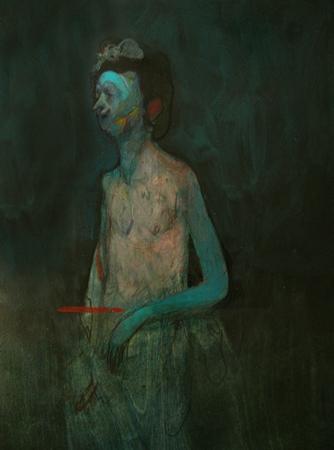 Andreas Ragnar Kassapis, Sunday's Swim, 2010, Oil on wooden panel, 50x70cm