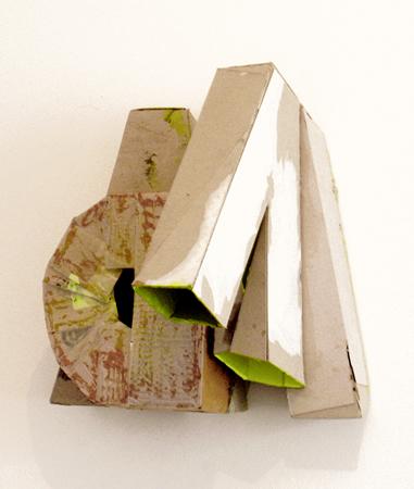 Renata Kaminska, MdMA, 2013, wall sculpture used cardboard, 42x30x25cm