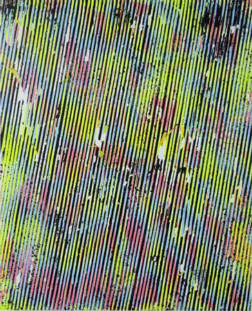 """Julie Oppermann, A1311"""", 2013, Acrylic and spray paint on aluminum panel, 49x40cm"""