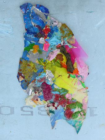 Sofia Touboura, 213, 2008, mixed media, collage on dow, 33x25cm