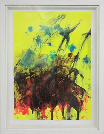 Giorgos Kontis, Untitled, 2013, Acrylic on paper, 35x23cm,(framed 40x30cm)