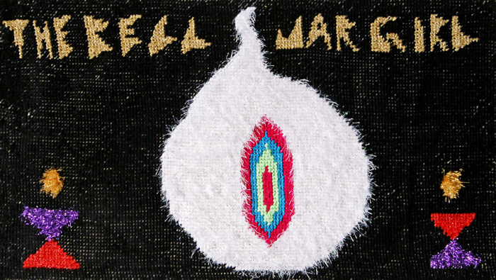 The Callas, The Bell Jar Girl, embroidery on canvas, 95x55cm