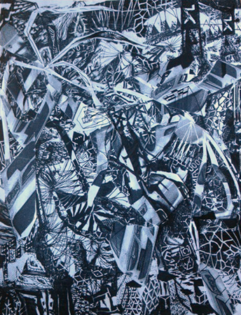 Viktor Timofeev, Untitled, 2013, drawing and collage on photocopy, 22cm x 28cm