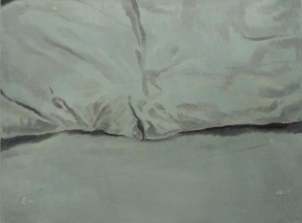 Vaggelis Gkokas, The Pillows, 2012, oil on wood, 30x40cm