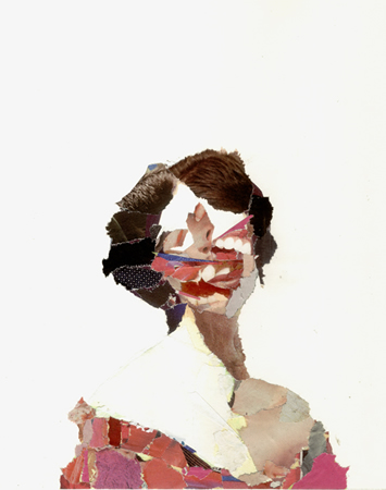 Alexandros Vasmoulakis, Untitled, 2012, ink and collage on paper, 20x20cm