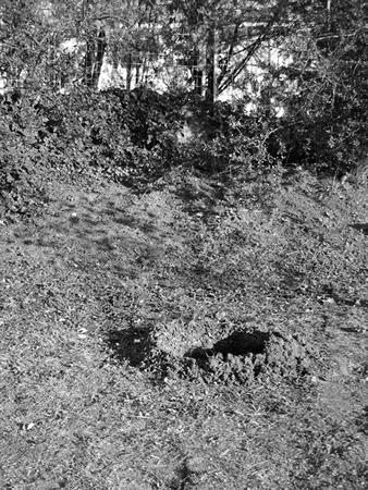Anastasis Stratakis, Down the well (Untitled #4), 2009-10, Black and white photograph, 38 x 28.5 cm, from a series of 12
