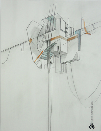 Stathis Petropoulos, Untitled, Graphite and watercolor on illustration board, 50x37cm (framed)