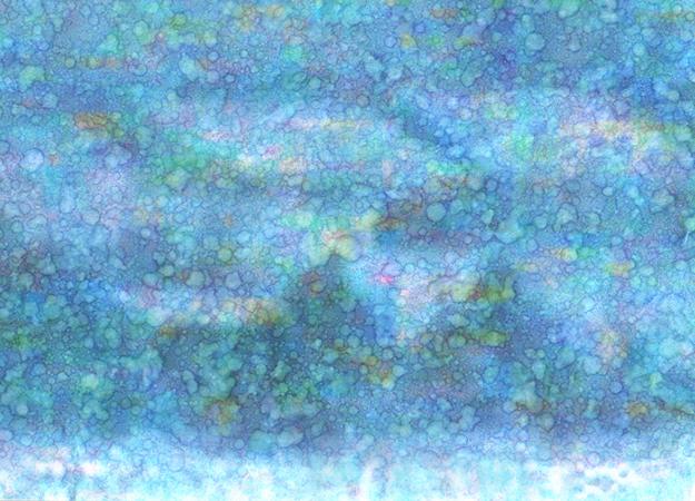 Jennifer Oellerich, Blue-Pencil12, 2010, Rain on Inkjet print, 30x40(framed)
