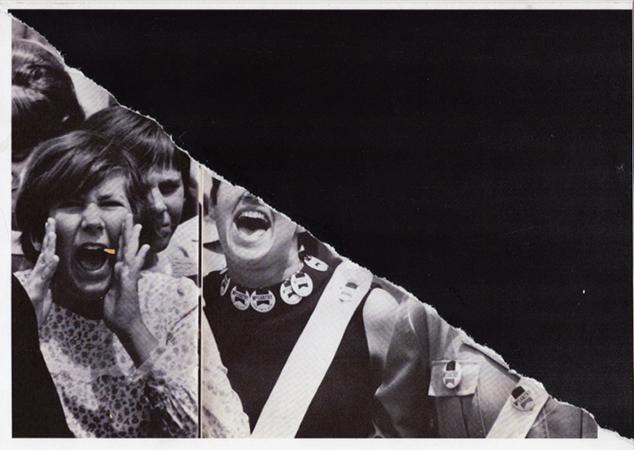 Daniel Kingery, Protestors(2), 2011, Collage on inkjet print, 21x29,7cm