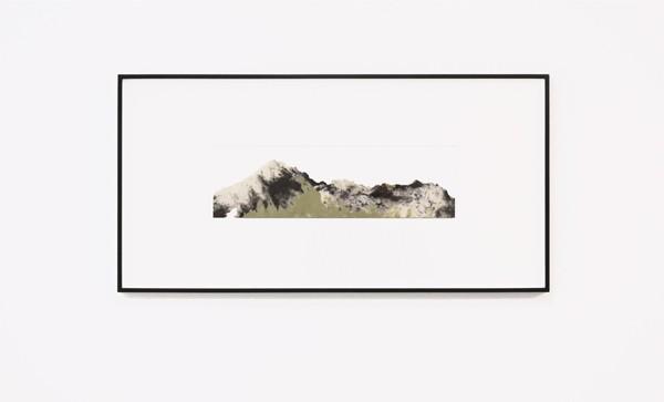 1Lefteris Tapas, Landscape I, 2019,  paper pulp, graphite, natural earth pigments, 39,5x12cm Courtesy of CAN Christina Androulidaki gallery