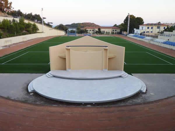 Manolis D. Lemos, Oinousses Stadium & Amphitheater, 2012, aluminium print, 67.5 x 90 cm